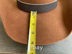 Vintage Antique Rugged Old West Bailey Cowboy Hat 7 1/8 Open Range Tom Mix Gus