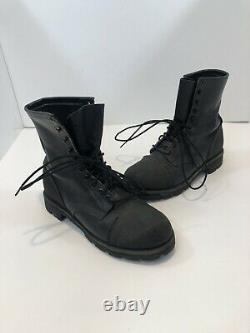 Vintage Red Wing Black Leather Heritage Work Boots Iron Range Mens Size 7D