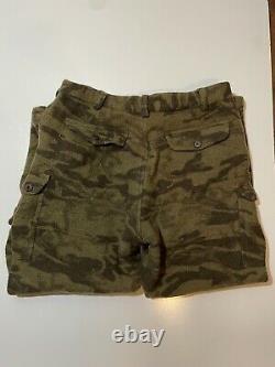 Vtg Columbia Wool Gallatin Range Cargo Camo Hunting Pants 42x32 PHG Outdoors 90s