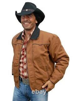 Westernjacke Herrenjacke Cowboy Westernlook Westernstyle RANGE RIDER Braun