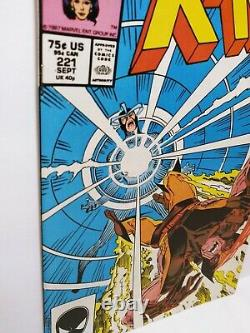 1 Uncanny X-men #221 Nm+ Range 1er Mr Sinister Wolverine Havok Marvel Key Comic