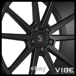 24 Koko Kuture Le Mans Black Concave Wheels Rims Fits Range Rover Hse Sport