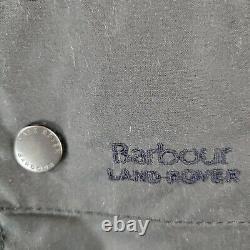 $559 Barbour X Land Rover 2xl Mens Black Oilcloth Wax Field Jacket Coat Defender