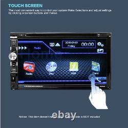 6.95 2 Din Écran Tactile De Voiture Mp5 Lecteur Stéréo Radio DVD +rear Caméra Mains Libres