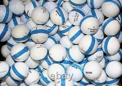 900 Premium Assorted Blue Striped White Range Pratique Golf Balls Top Quality