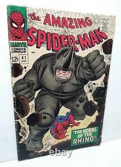 Amazing Spider-man #41 1ère Apparition De Rhino Vg Gamme Silver Age Key Comic 41