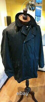 Barbour Boatman Huricoat Mens Vintage Trench Coat Breathable Range Mottled Black