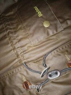 Barbour Rare Gamme De Vente Au Détail Wax Sedgemoor Coat Parka Veste M L Euc Unique Duster
