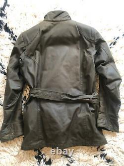 Belstaff Trialmaster Jacket Pure Motorcycle Range Woodland Green S S'adapte Comme Un M
