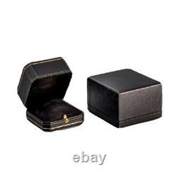 Boîte D'anneau De Fiançailles La Plus Chère Dans La Gamme De Diamant Noir Faite À La Main Du Monde