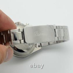 Cadran Vert Parnis De 40mm Illuminé Chronographe Quartz Montre Homme Gamme Complète