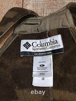 Columbia Gallatin Range Wool Blend Monarch Pass Pourvoirie Camo Bibs Xlarge