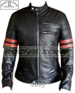 Fight Club Style Range (brad Pitt) Homme Mode Premium Veste En Cuir Analene