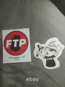 Ftp Chemises & Lot De Sticker (te De Pange & Tee De Lemonade Lyrique) Taille Grand Marque Nouveau