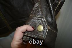 Homme Lg Cody James Distressed Brown Range Genuine Leather Jacket Biker Cjfa132