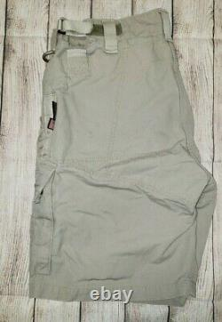 Kitanica Men's Size 38 Range USA Made Tan Cargo Shorts Poches