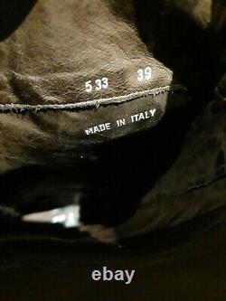 Ladies Black Leather Biker Boots Par Paul Smith Men Seule Gamme Sz 39 Uk6 Vgc