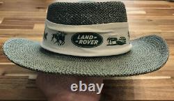 Land Rover Range Rover Vintage Straw Hat Golf Hat Equestrian Horse Safari Rare