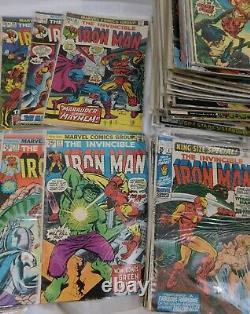Lot De 88 Comics Iron Man #24 À #200 Gamme La Plus Moyenne Année F/vf Bronze Âge