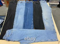 Lot Of 23 Vintage 1990's Levi's 500 Series Denim Jeans Faded Worn
