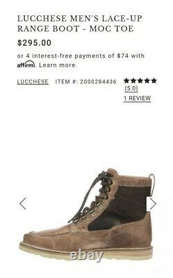 Lucchese Shoes Taille 12m Homme Lace-up Range Ipc-1155 Mad Dog Goat