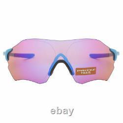 Lunettes De Soleil Oakley Evzero Range Oo9327-05 Matte Sky Blue Avec Objectif Prizm Trail