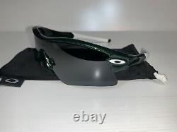 Lunettes De Soleil Oakley Radar Vert Métallisé/blanc/noir Gamme Polaire Droite