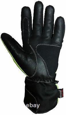 Mens Range Couleur Thermique Moto Motocross Moto Gants D'hiver Textile