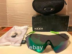 New Oakley Evzero Range (af) Blanc Poli / Jade Iridium, Oo9337-04