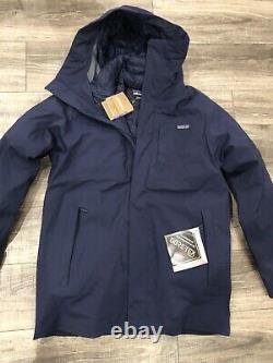 New Patagonia Men's Frozen Range 3-en-1 Parka Navy $799 Grande