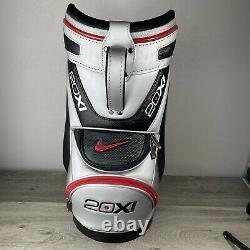 Nike Golf 20xi Mini Range Sac Den Caddy Argent Rouge Noir Rare! Voir Description