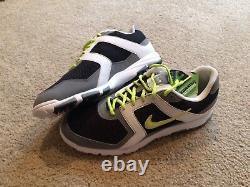 Nike Golf Air Range Wp Chaussures De Golf Noir/cyber/blanc Taille 10.5 Nouveau Mort Stock Tw