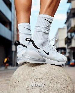 Nike Homme Air Max 270 Taille 10 Eu 45 White Black Icons Range Rrp £130