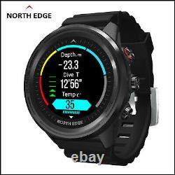 North Edge Range 5 Montre Intelligente De Plongée Pour Explorer Les Sports De Plein Air (édition Noire)