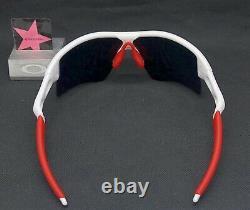 Oakley Radar Poli Blanc Poli Avec Positive Gamme Rouge Iridium Personnalisé Authentique +rouge