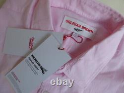 Orlebar Brown 007 Chemise XXL James Bond Gamme Rose Coton Mens Nouveau