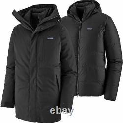 Patagonia Men's Frozen Range 3-en-1 Parka Black Large Flambant Neuf Avec Tags $799