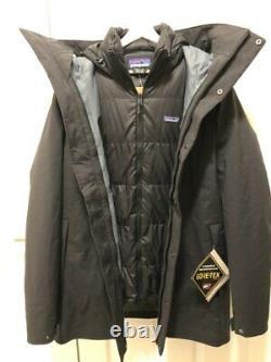 Patagonia Men's Frozen Range 3-en-1 Parka Black Medium Nouveau Avec Tags $799
