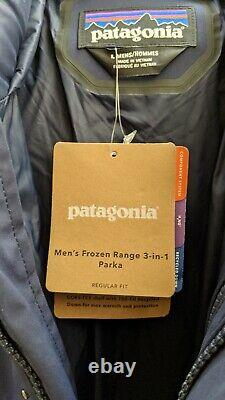 Patagonia Men's Frozen Range 3-en-1 Parka Navy Large New Avec Tags $799