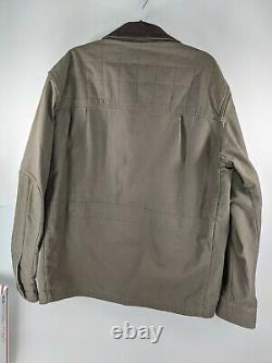 Patagonia Nuevo Range Cotton Duck Jacket Gris Brun Taille XL Corduroy Collar