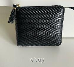 Porte-monnaie En Cuir Noir Comme Des Garcon (gamme Luxury)