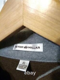 Récent Peter Millar Range Rover Brodé Pullover Brown XL Toison Impeccable