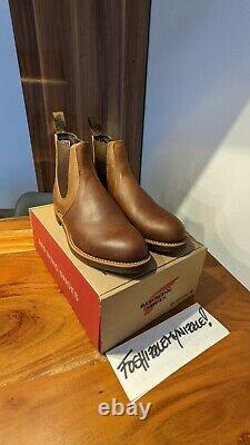 Red Wing Heritage 8201 Rancher Chelsea Amber Harness Boots Made In USA Gamme Moc