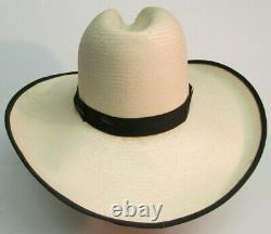 Resistol Gus Open Range Texas Cowboy Hat Taille 7 1/4 Straw Sass Movie Prop House