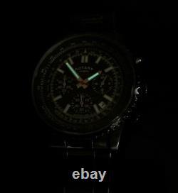 Rotary Mens Watch Black Ocean Range Chronograph Rrp £190 Genuine Boxed R39
