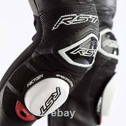 Rst Race Department V4 1pc Kangaroo Leather Race Suit -ce Approuvé- Noir/noir