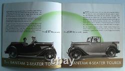Singer Cars Range Sales Brochure 1937 Bantam Neuf Douze Seize Le Mans