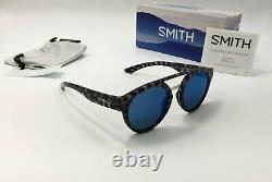 Smith Range Hommes Round Choco Tort Lunettes De Soleil Chromapop Blue Mirror Lens