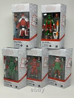 Star Wars Holiday Black Series Clone + Storm + Gamme + Sith + Snow Trooper Lot 5