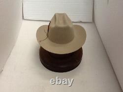 Stetson Cowboy Hat 6x Beaver Fur Silverbelly Range Avec Brosse Chapeau Gratuit+